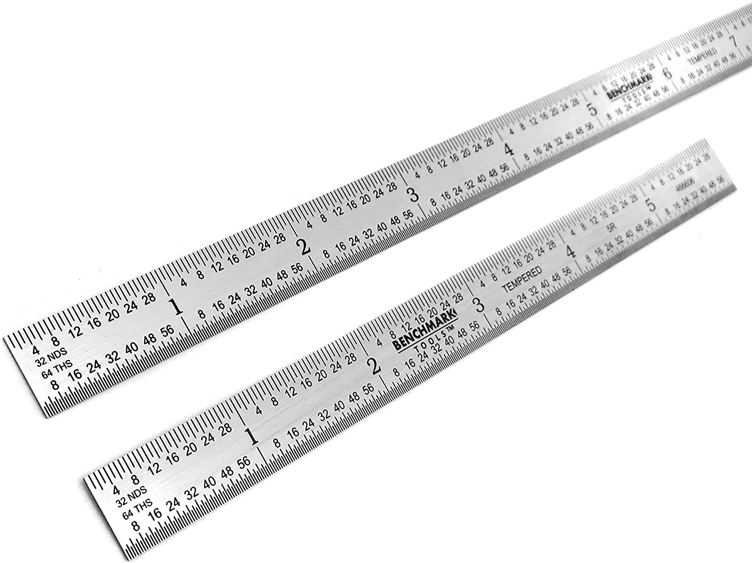 1//32 and 1//64 Markings Stainless Steel Black Chrome Finish Conforms to EEC-1 Accuracy Standards Benchmark Tools 466644//466583 Flexible 5R Machinist Rules 2 Piece Set 6 and 12 Inch 1//10 1 1//100