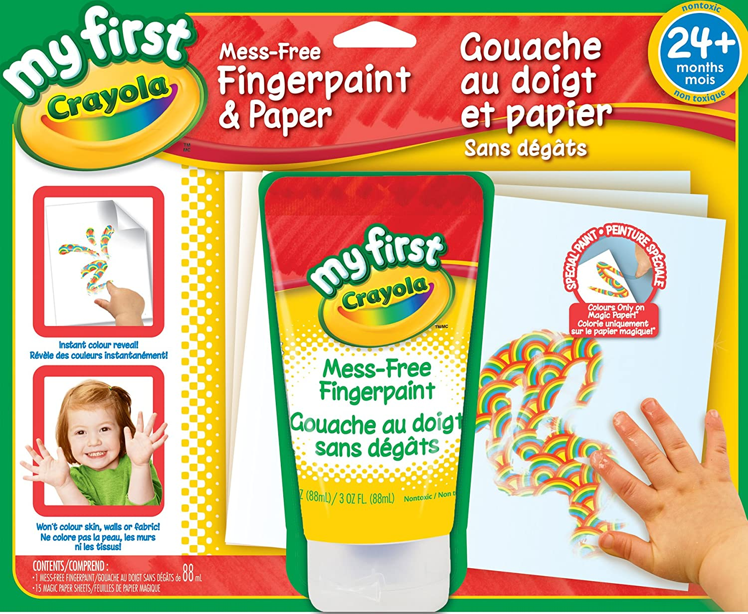 Crayola My First Mess Free Fingerpaint and Paper, Finger Paint ...