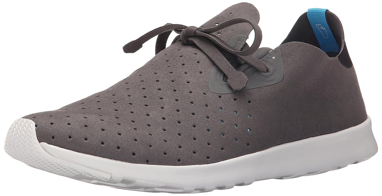 Native Unisex Apollo Moc Fashion Sneaker. Dublin Grey/Jiffy Black/Shell White
