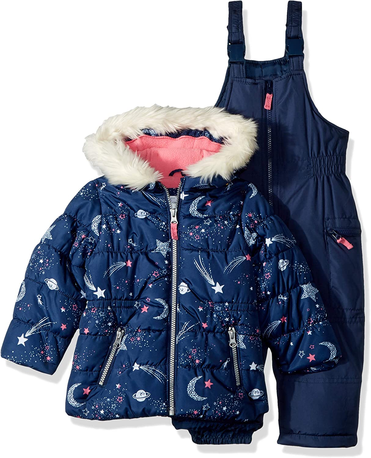 Navy Star Carters Girls Toddler 2-Piece Heavyweight Printed Snowsuit 3T