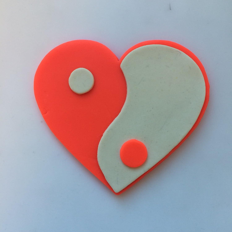 Yin Yang corazón Cookie Cutter Set, rosso, 7.62 cm: Amazon.es: Hogar