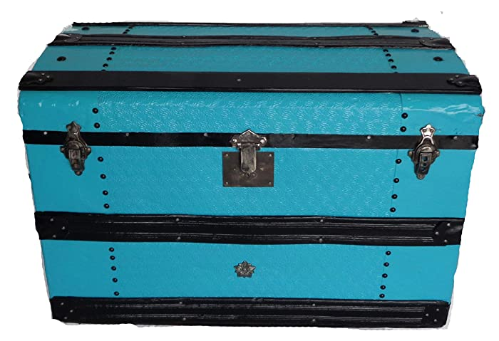 incredible Teal Storage Trunk Part - 8: Vintage Restored Storage Trunk