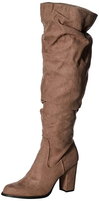 f2b5298449e Madden Girl Womens Cinder Fabric Almond Toe Over Knee Fashion Boots