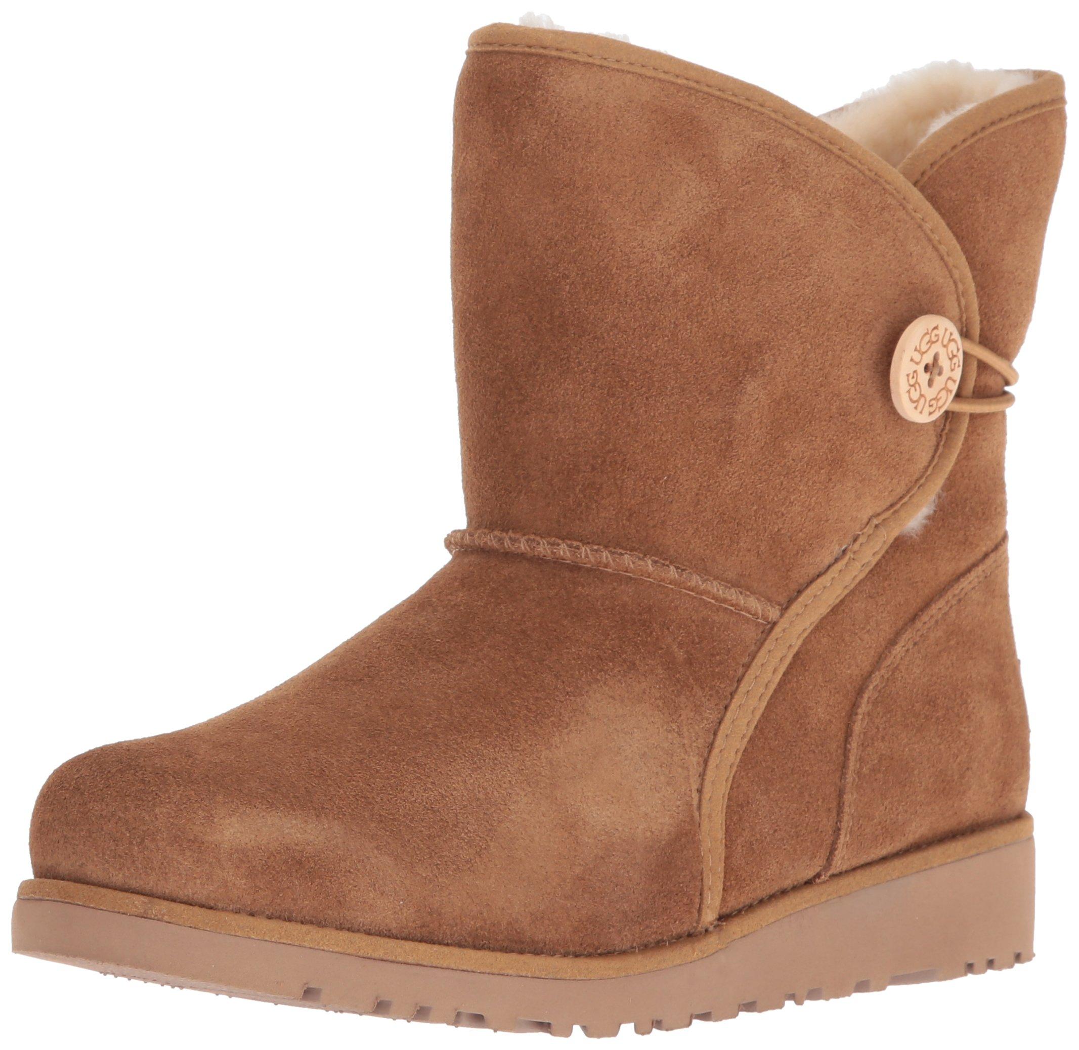 UGG Girls Y Fabian Pull-On Boot, Chestnut, 5 M US Big Kid