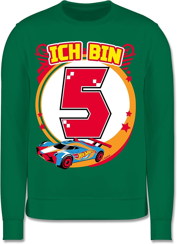 Shirtracer Kinder Pullover Rennauto Ich Bin 5 Hot Wheels M/ädchen