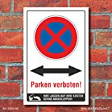 wunschtext parken verboten schild parkverbot parkplatz halteverbot ladezone bitte. Black Bedroom Furniture Sets. Home Design Ideas