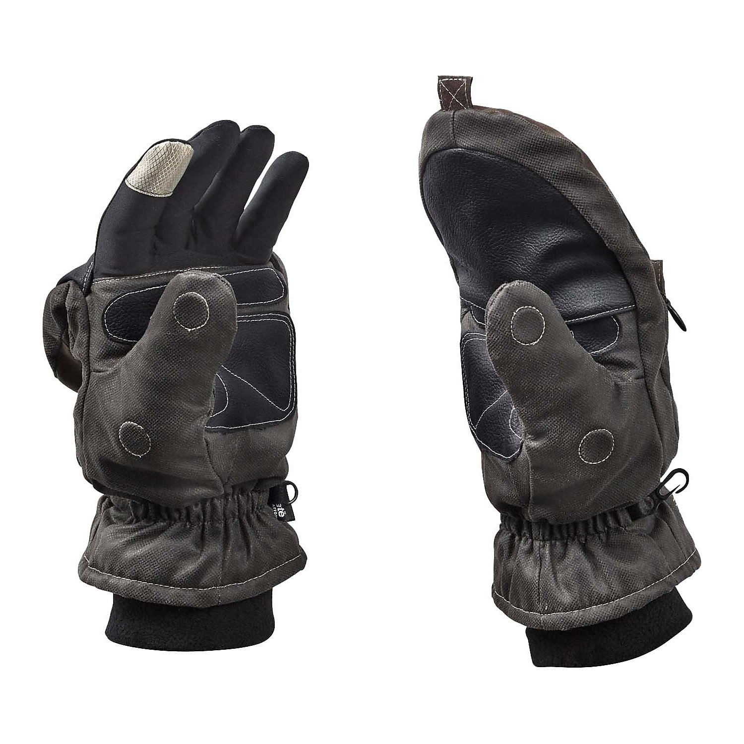 Legendary Whitetails Men's Arctic Tundra Pop Top Gloves Charcoal X-Large
