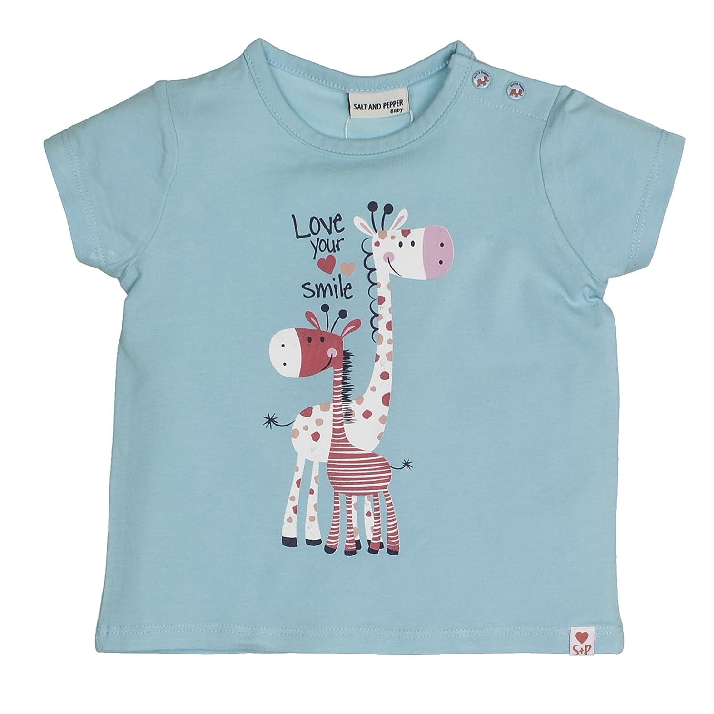 SALT AND PEPPER Baby-Mädchen T-Shirt B Love Uni Print 83212246