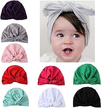 Weichen Baby Turban Knoten Mütze Kinder Jungen Mädchen Elastischer Baby Hut