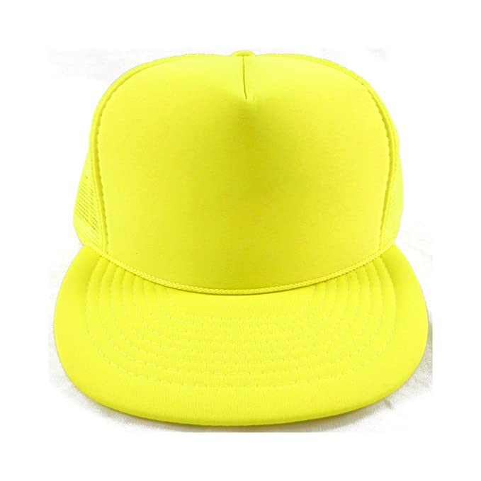 Nissin Cap Vintage 1990 s Neon Yellow Trucker Hat at Amazon Men s ... 599a0e43c75