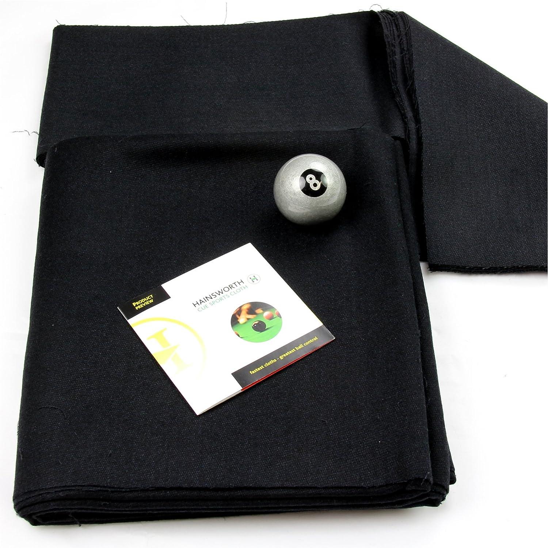 213,36 cm negro Hainsworth Elite-pro mesa de billar paño - Plata ...