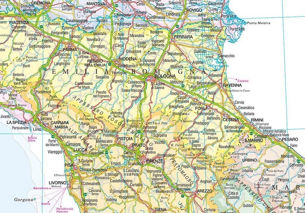Cartina Italiana Stradale.Italia Amministrativa E Stradale Carta Murale 67x85 Cm Belletti Amazon It Cancelleria E Prodotti Per Ufficio
