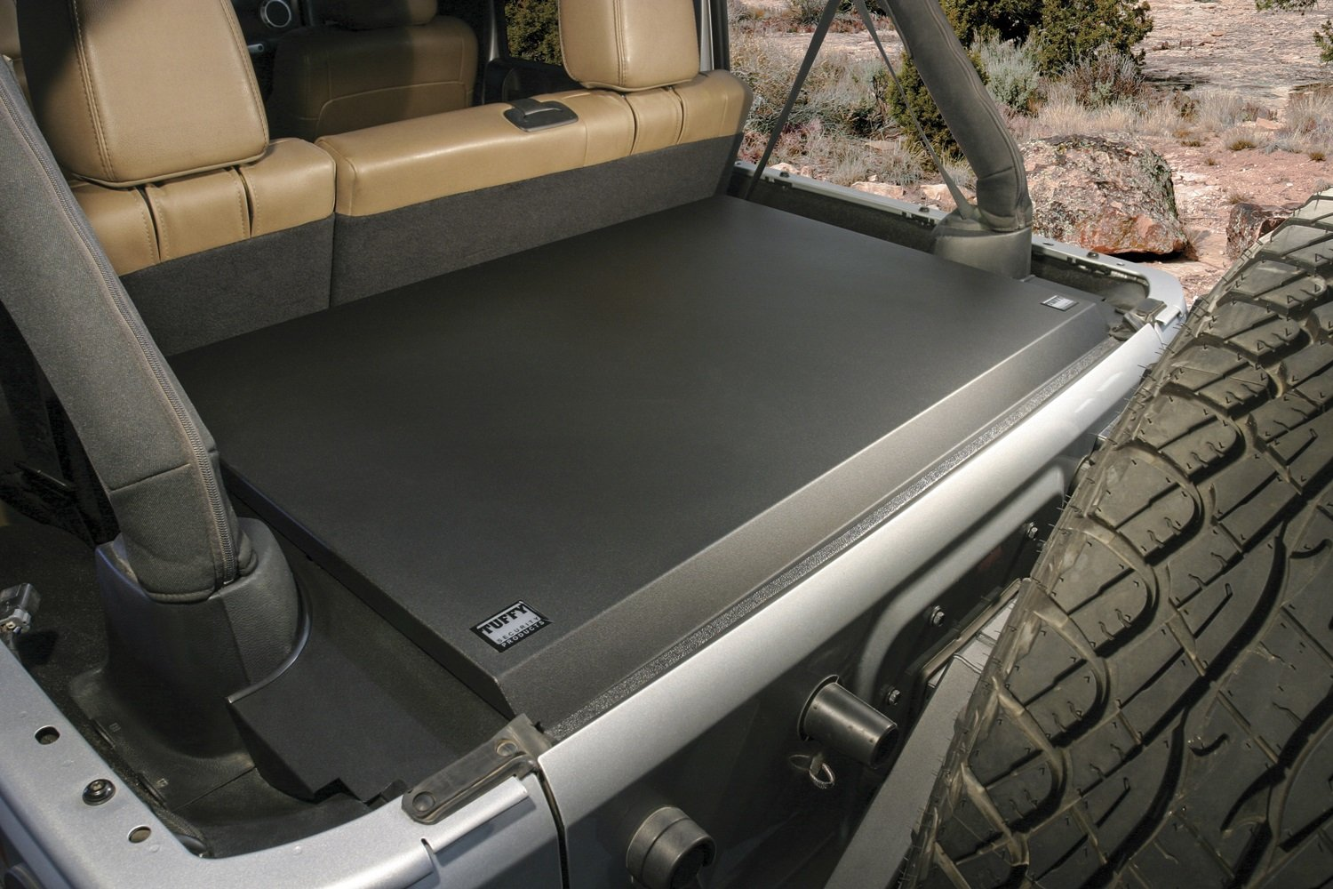 Tuffy 326-01 Jk 2011+ Deluxe Security Deck Enclosure, 01-Black, Us 8256819, 8517445, 9039062, 9079625, Other Patents Pending