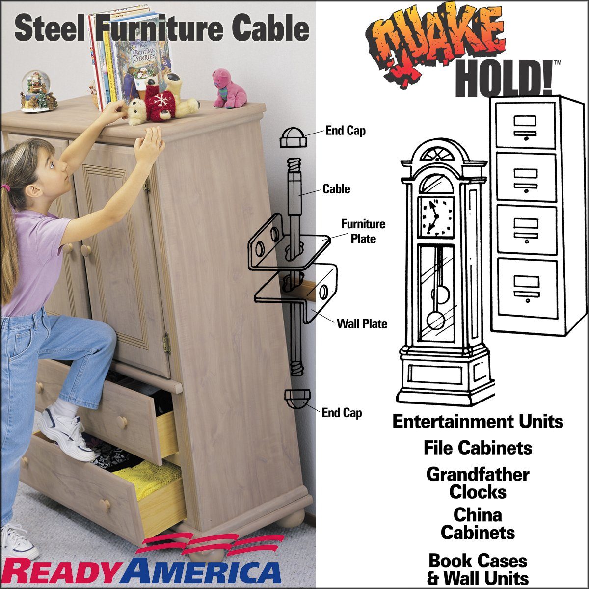 2830 7 Inch Steel Furniture Cable: READY AMERICA: Home Improvement