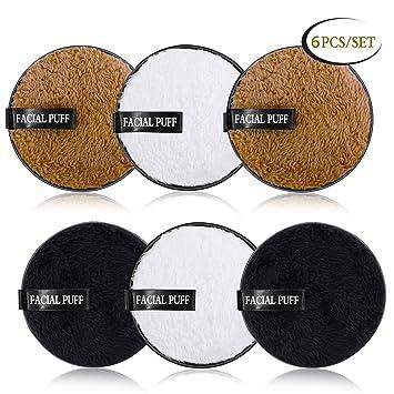 Almohadillas reutilizables para quitar maquillaje, AIBEAU 6 ...