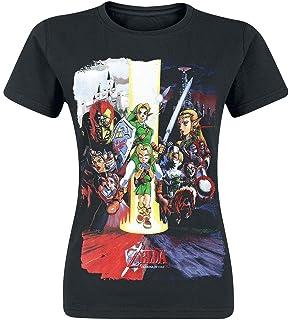 The Legend of Zelda Nintendo Legend of Zelda Womens Ocarina of Time Cast Print T-