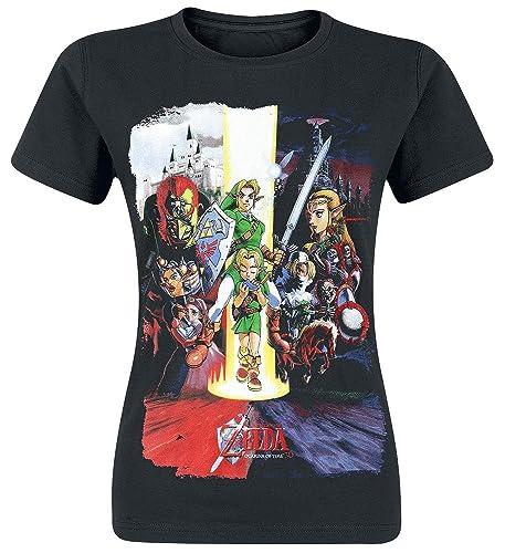 The Legend of Zelda Nintendo Legend of Zelda Women's Ocarina of Time Cast Print T-Shirt - Camiseta M...