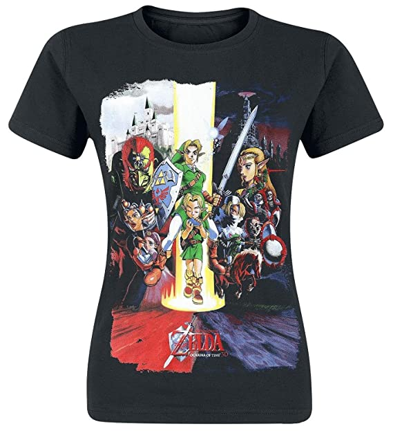 Womens Ocarina Of Time Cast Print T-Shirt - Small