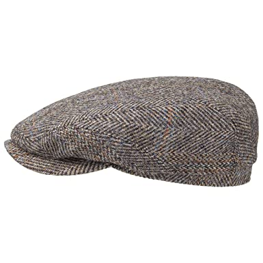 d6139f2ced8af Belfast Harris Tweed Flat Cap Stetson flat caps wool beanie (64 cm -  beige)  Amazon.co.uk  Clothing