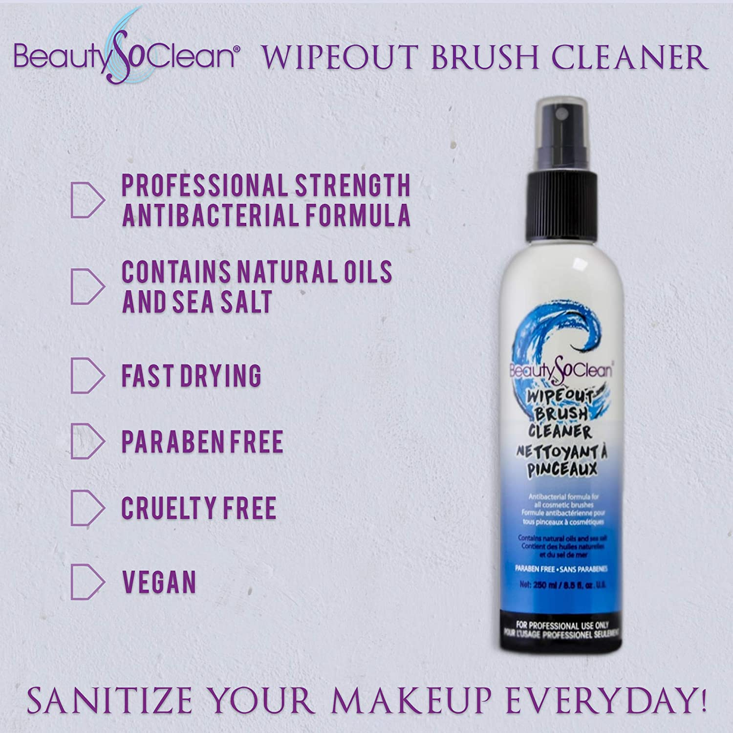 Beautysoclean Wipeout Makeup Brush Cleaner