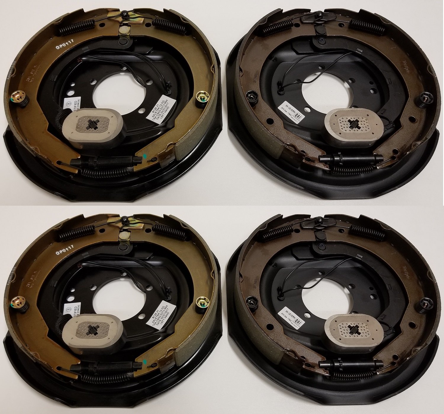 Trailer Brake Assembly Electric Trailer Brakes 12'' x 2'' - 2 right & 2 left 5200 6000 7000 lb axles by Ei