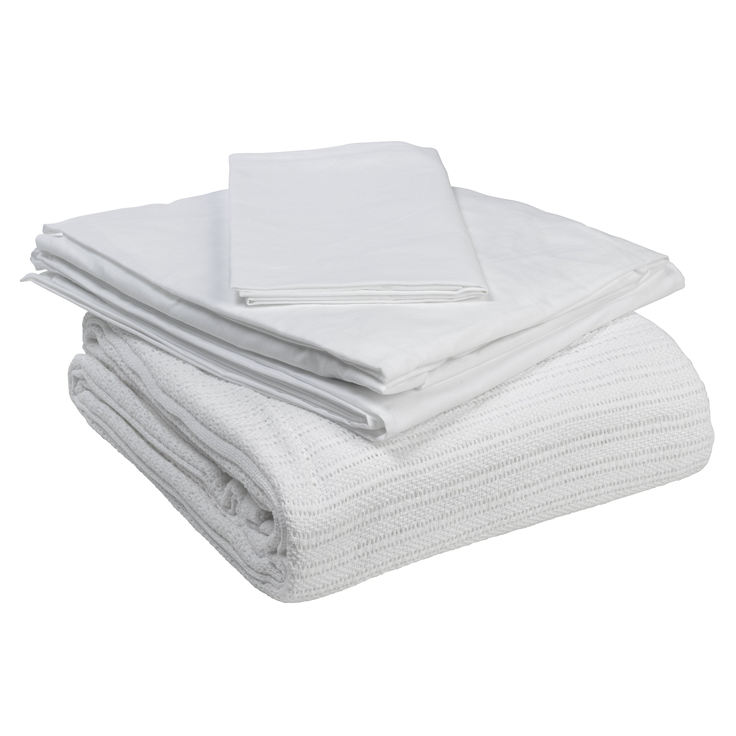 Drive Medical 15030HBC Hospital Bed Bedding in A Box, White