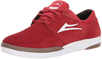 Lakai Fremont Skate Shoe, Red Suede, 8 M US