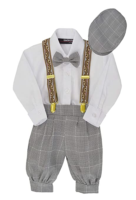 09701153f Amazon.com: Gino Giovanni Baby Boys Vintage Knickers Outfit Suspenders Set:  Clothing