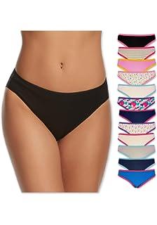 f72c08e1a22 Sexy Basics Womens 12 Pack Cotton Bikini Briefs (SOLIDS/PRINTS GRAB BAG)