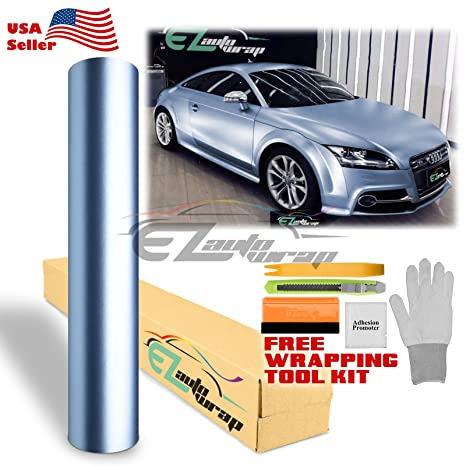 """*12/""""x60/"""" Brushed Aluminum Yellow Car Vinyl Wrap Sticker Decal Air Release Bubble"""