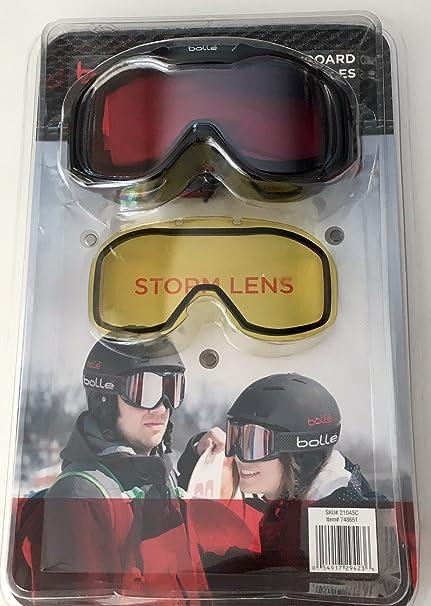 196e4430189 Amazon.com  Bolle Costco US Unisex Snow Snowmobile Goggles Black ...