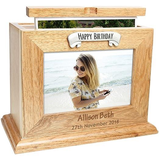 30th cumpleaños o roble caja para fotos álbum personalizable ...