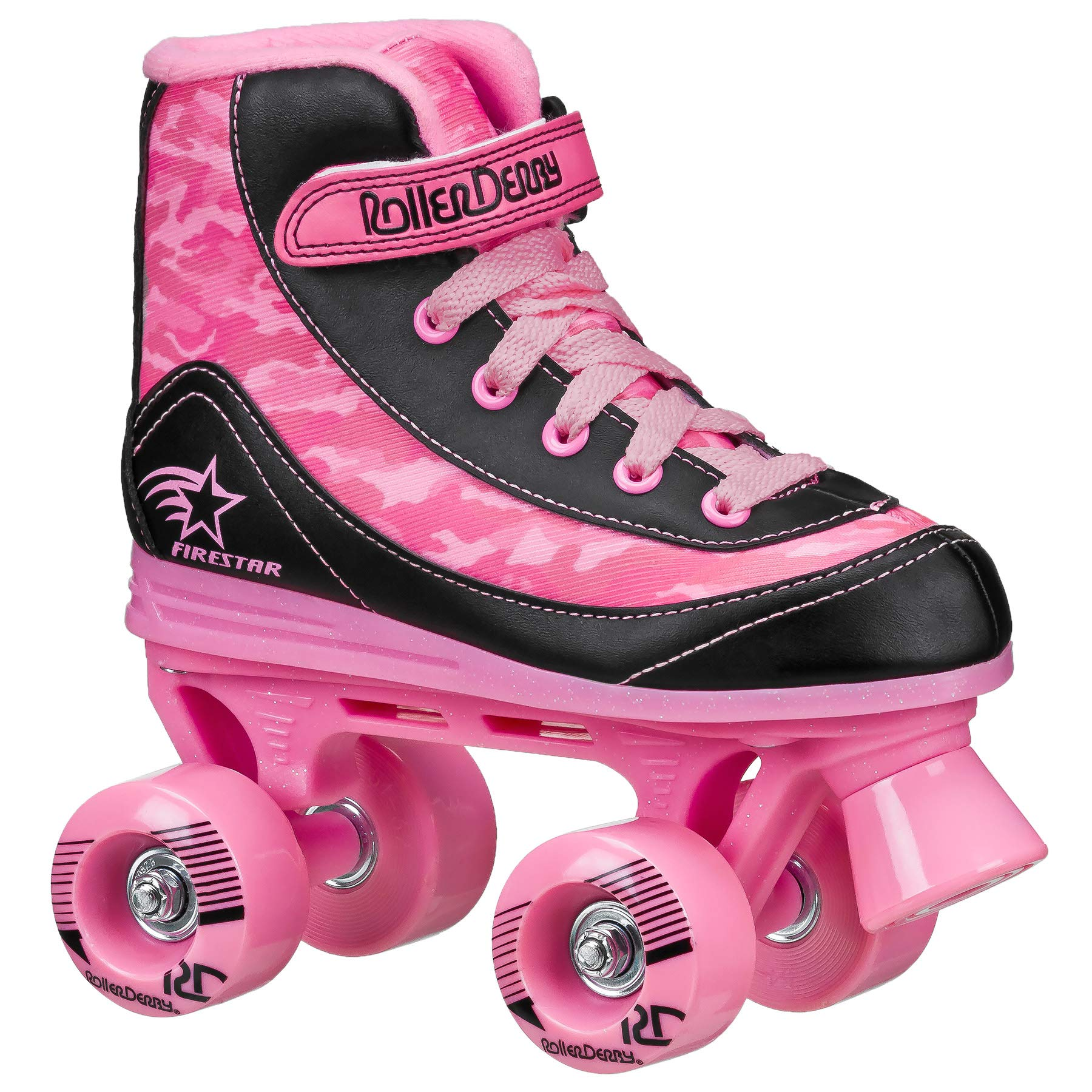 FireStar Youth Girl's Roller Skate (Pink Camo, 2)