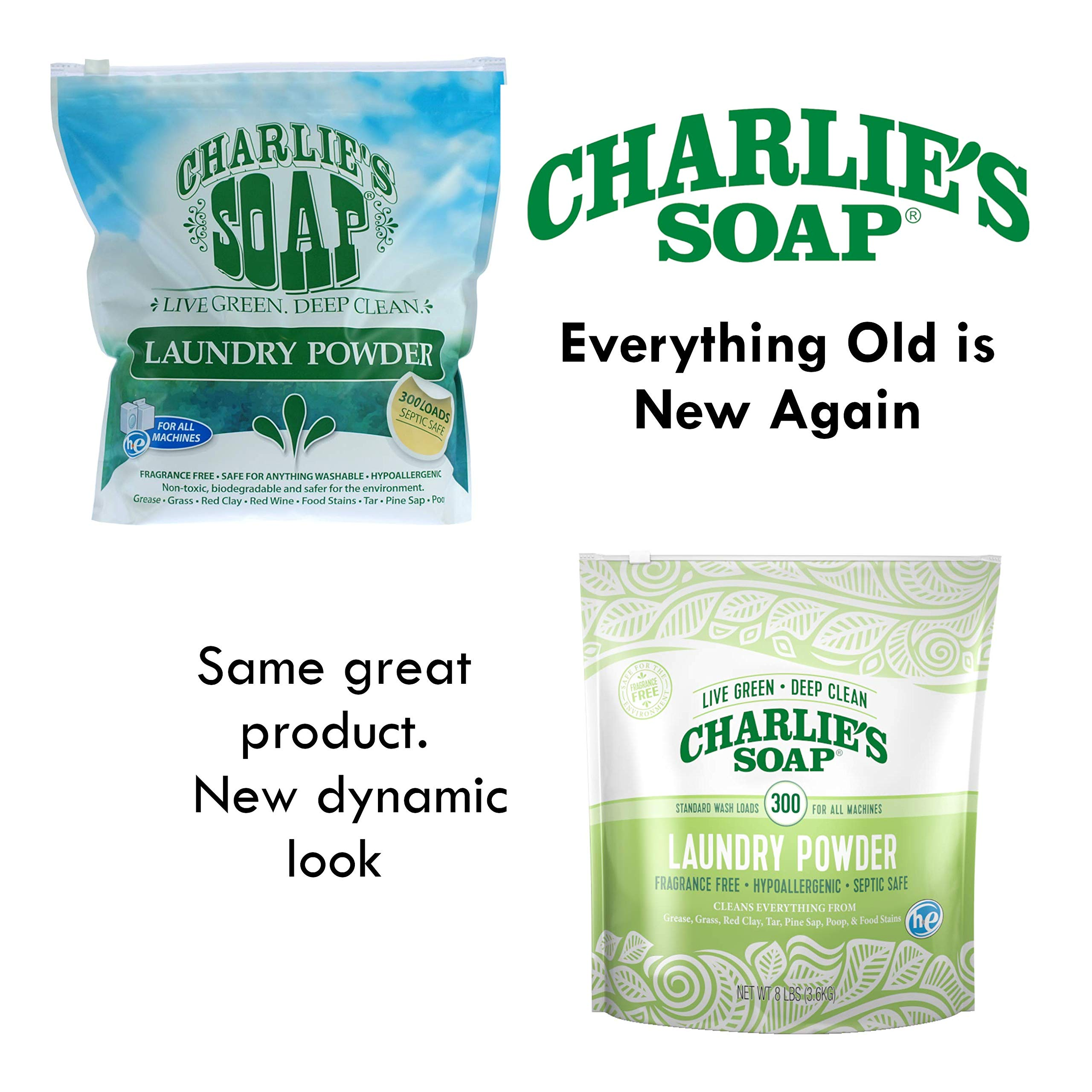 Charlie's Soap - Fragrance Free Powder Laundry Detergent - 300 Loads (8 lbs, 1 Pack) by Charlie's Soap (Image #2)