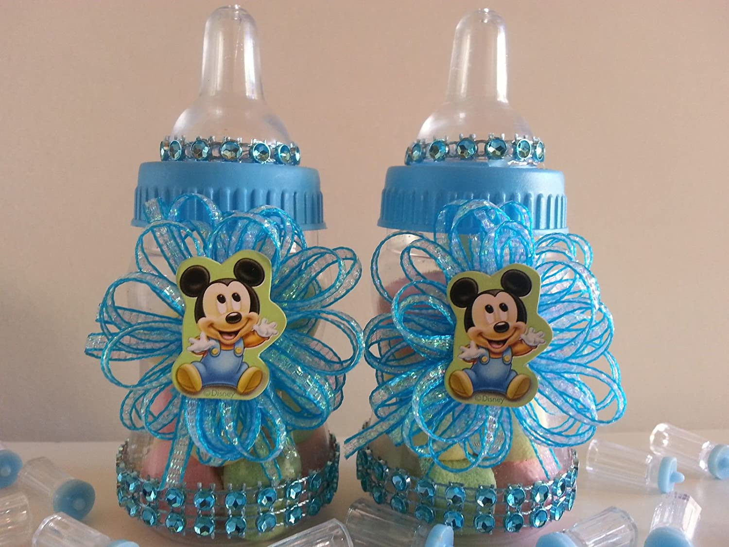 Amazon.com: 12 Baby Mickey Mouse Fillable Bottles Baby ...