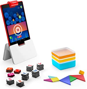 Osmo - Genius Starter Kit for Fire Tablet - 5 Educational Learning Games - Ages 6-10 - Spelling, Math, Creativity & More - STEM Toy - (Osmo Fire Tablet Base Included - Amazon Exclusive)