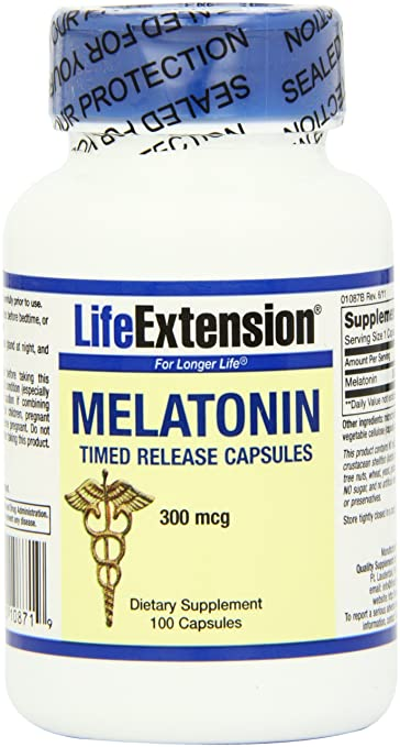 Amazon.com: Life Extension Melatonin Time Release 300mcg , 100 Capsule: Health & Personal Care
