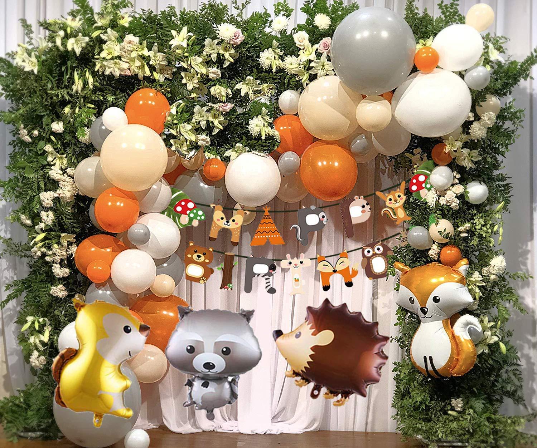 Alles Gute Zum Geburtstag Banner 40 Latexballon Mit Folien Tier Ballon Für Junge Mädchen Geburtstagsfeiern Kindergeburtstag Deko Party Mmtx Geburtstag Dekoration Kinder Tier Wald Dekorationen Com Girlanden Luftschlangen Konfetti