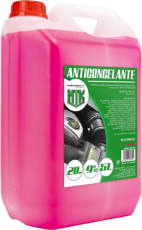 Motorkit MOT3539 Anticongelante, 5L, 30 %, Rosa: Amazon.es: Coche ...
