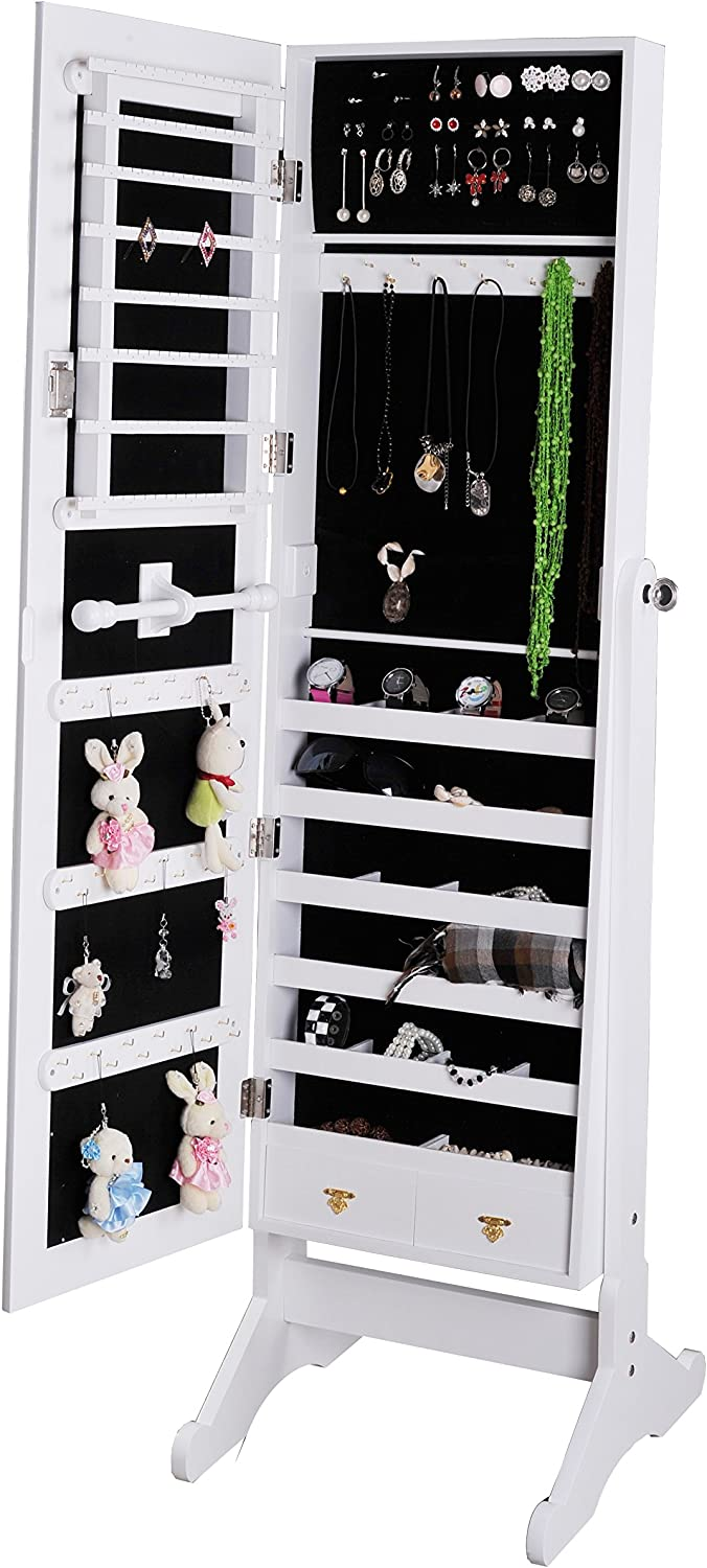 Image result for Mirror Jewelry Cabinet
