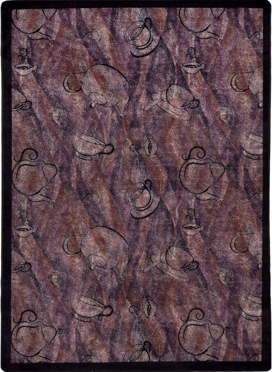 Joy Carpets 1575d 04 Fresh Brew Chai 7 Ft 8 In X 10 Ft 9 In 100 Pct Stainmaster Nylon Machine Tufted Cut Pile Whimsy Rug Kitchen Dining
