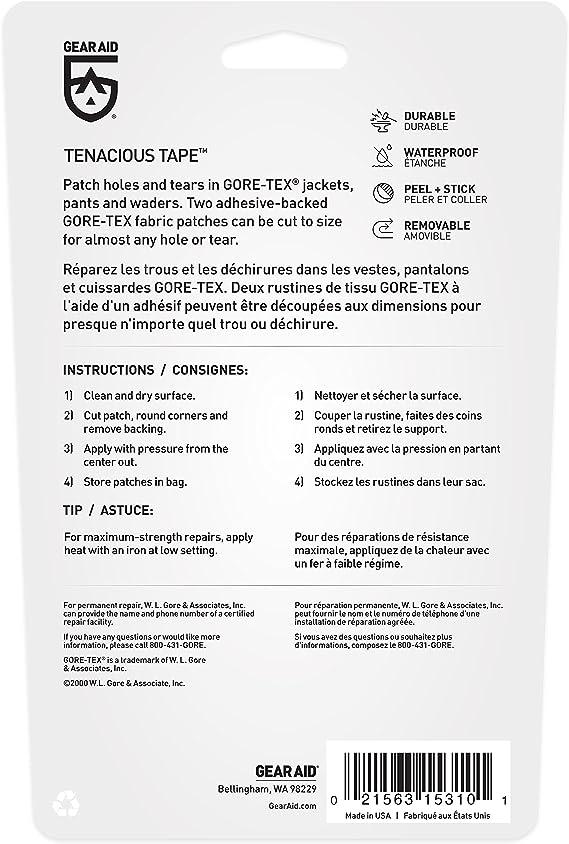 McNett Gear Aid Sealer /& Outdoor Repair Kit Gear Patches Tenacious Gore-Tex
