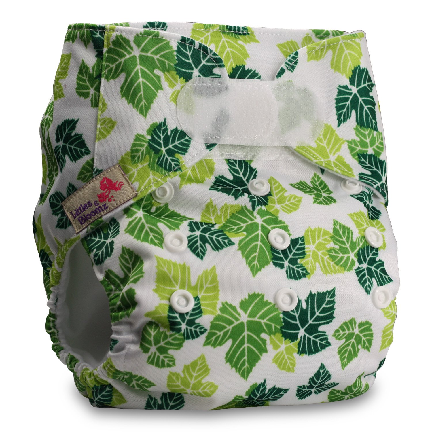 Reusable Pocket Cloth Nappy Littles /& Bloomz Pattern 21 Fastener: Hook-Loop Set of 1 Without Insert