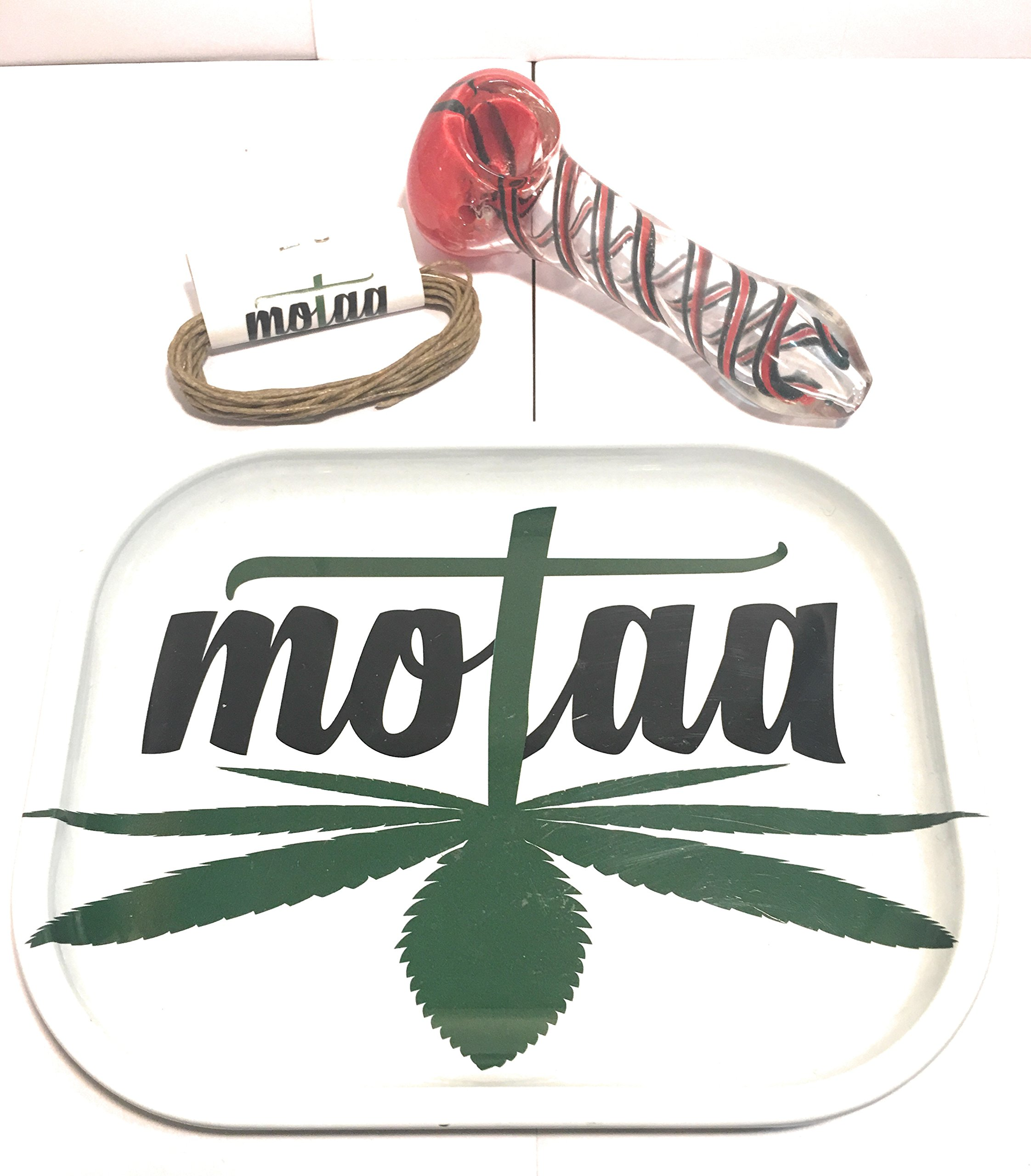 MOTAA Rolling ash tray with 10ft of hemp wick spiral multi (4.5 INCH)