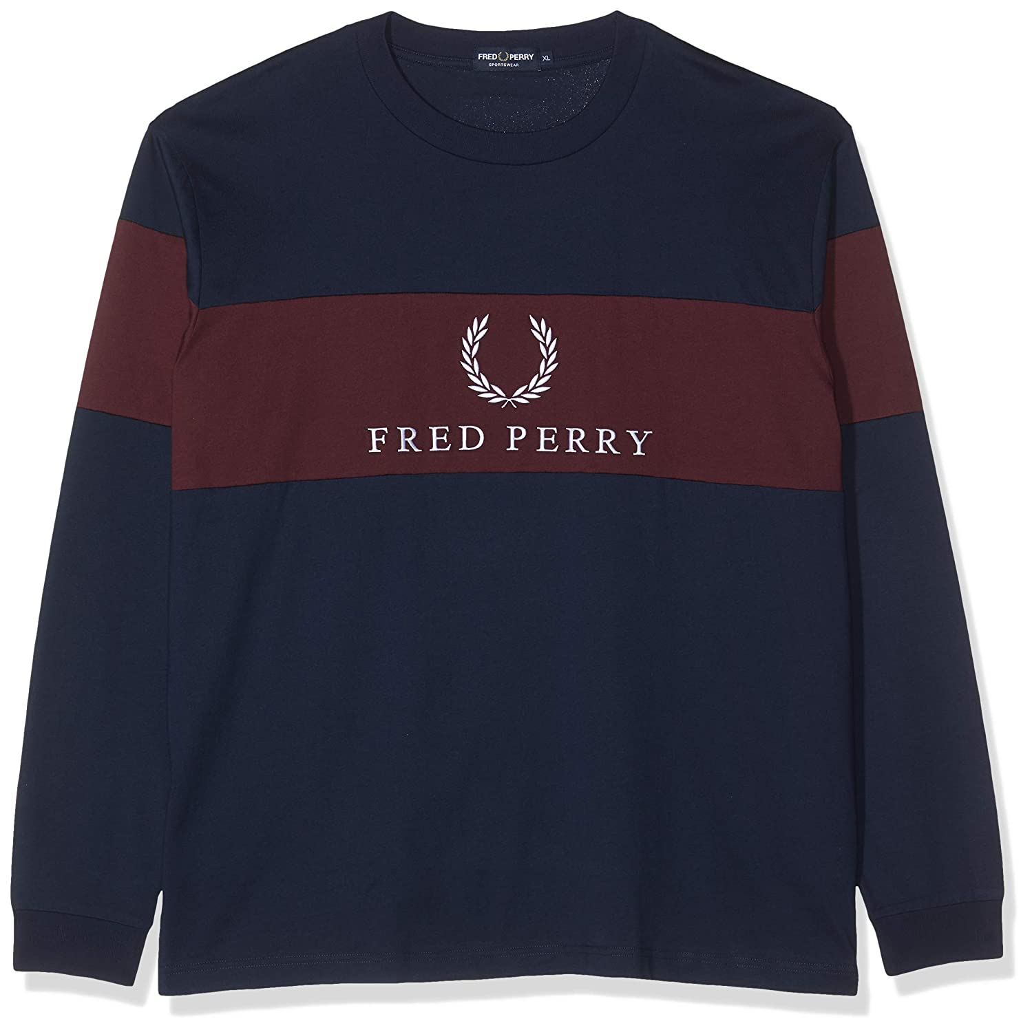 Fred Perry M5510-CONTRAST Panel T-SHIRT-A55-XL Camiseta de Manga ...