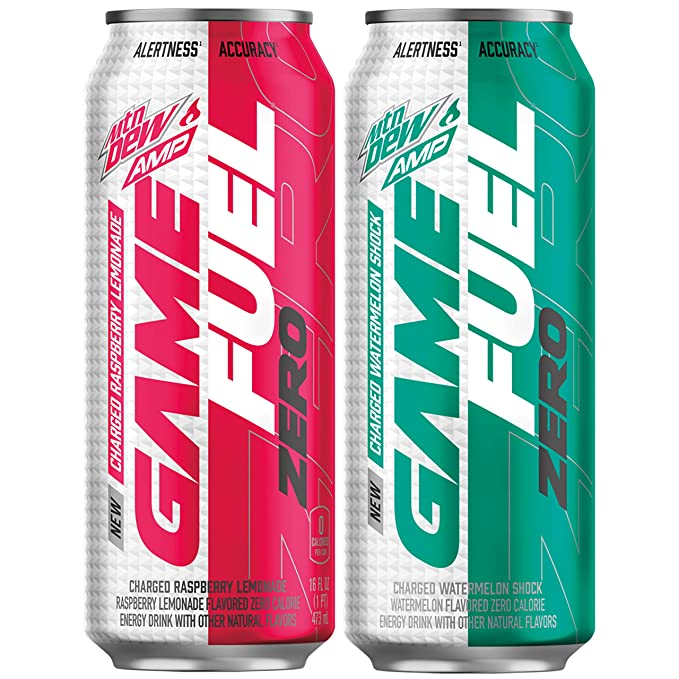 Mountail Dew Game Fuel Zero, Variety Pack, 16 Oz Cans (12 Pack): Amazon.com: Grocery & Gourmet Food