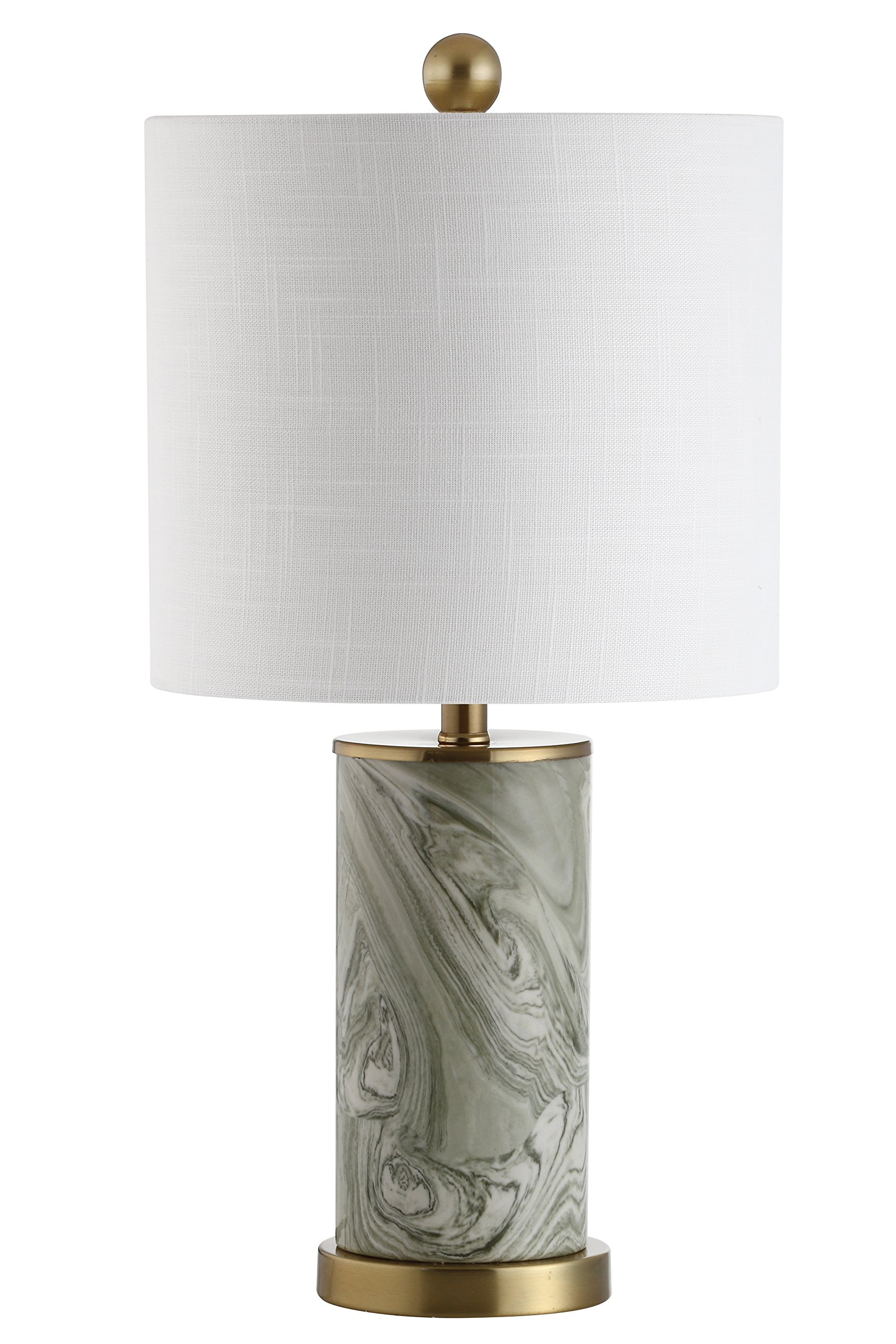 Jonathan Y JYL3012A Table Lamp, 10'' x 20.5'' x 10'', Gray/Green with White Shade
