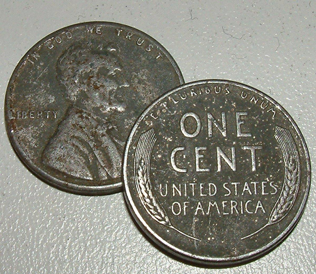 1932 Lincoln Wheat Penny Cent //// Fine F //// 1 Coin