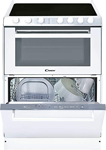 Candy TRIO 9503/1 W/U - Vitrocerámica, lavavajillas y horno en 60cm, independiente, mandos mecánicos, horno eléctrico multifunción 41L, lavavajilla 6 ...