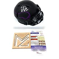 $105 » Justin Jefferson Minnesota Vikings Signed Autograph Rare ECLIPSE Speed Mini Helmet White Ink JSA Certified
